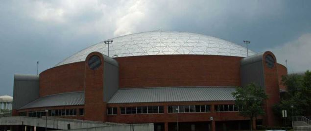 The ASU Acadome on the campus of Alabama State University in Montgomery, Alabama.