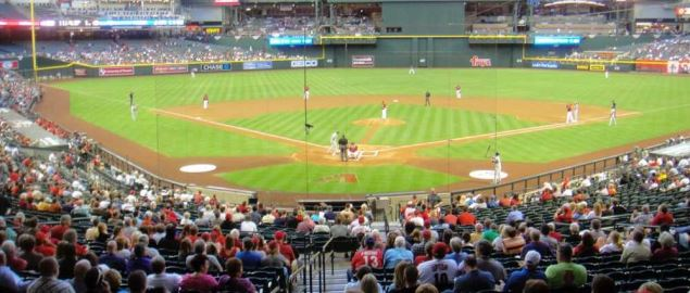 The St Louis Cardinals vs the Arizona Diamondbacks game at Chase Field.