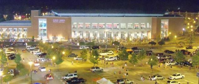 Auburn Arena, after the Auburn-Clemson game on September 18, 2010.