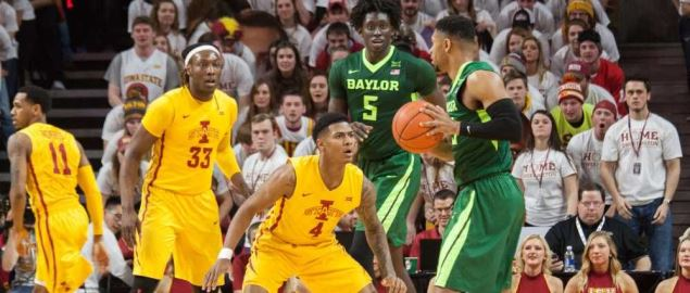 Iowa State vs. Baylor basketball.