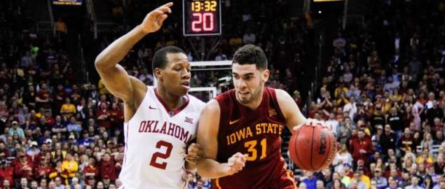 Iowa State vs Oklahoma Big XII tournament game on March 10, 2016