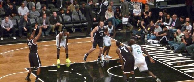 Boston Celtics vs Brooklyn Nets at Barclays Center on October 18, 2012