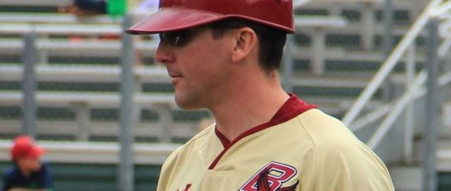 Boston College Eagles baseball coach Mike Gambino, 2013.