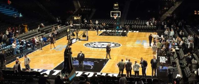 The Barclays center, home of the Brooklyn Nets.