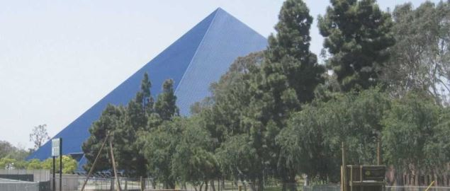Walter Pyramid at the Cal State Long Beach campus. Long Beach, CA, USA.