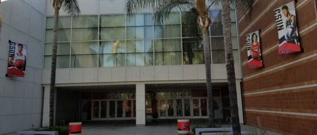 Cal State Northridge's Matadome entrance.