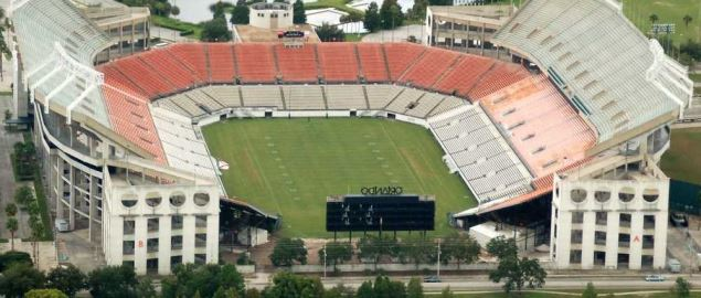 Aerial view of the Citrus Bowl in Orlando, FL.