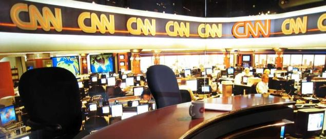 CNN newsroom from 2009