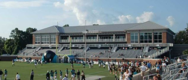 Adkins Fieldhouse at Brooks Stadium on the campus of Coastal Carolina University.