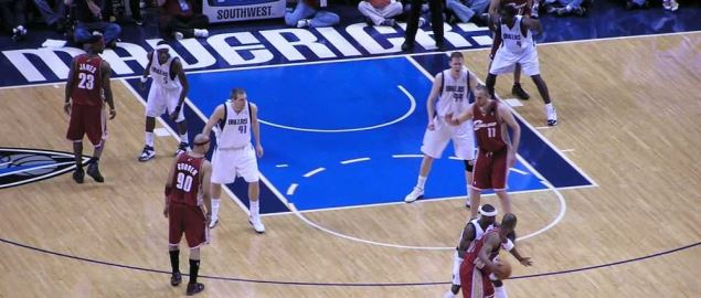 The Dallas Mavericks at Cleveland Cavaliers game.