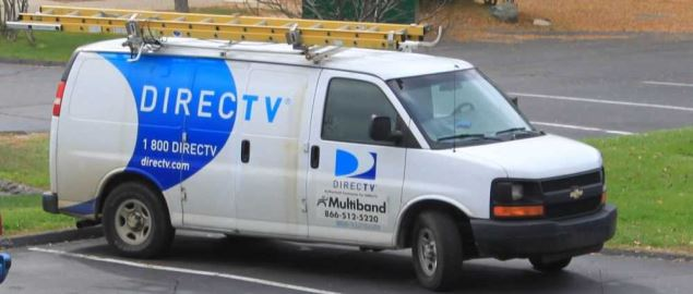 DirecTV service van in Ypsilanti Township, Michigan