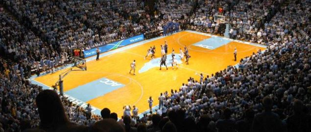 Duke vs UNC basketball game in Chapel Hill, NC on February 7, 2006