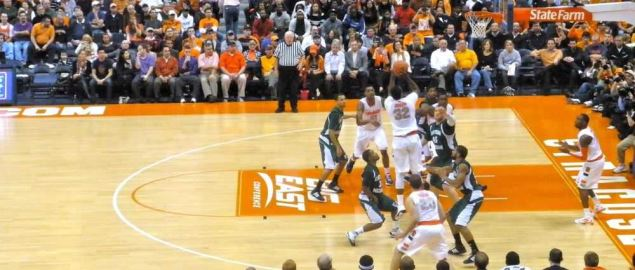 The Eastern Michigan Eagles vs Syracuse.