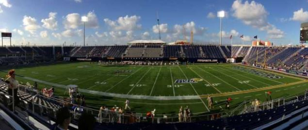 Panoramic picture of FIU Stadium in Miami, Florida.