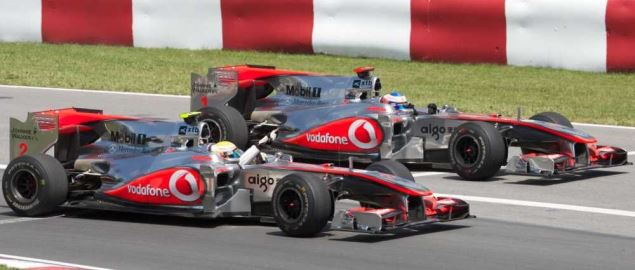 Lewis Hamilton and Jenson Button giving 1-2 finish for McLaren in 2010