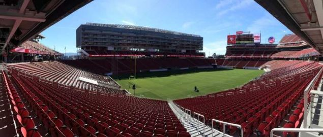 The stadium that hosts the Redbox Bowl, Levi's Stadium in the San Francisco Bay Area.
