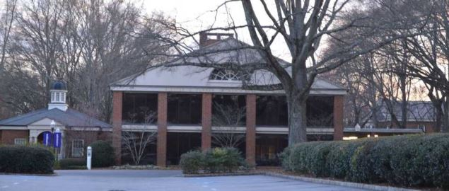 Furman University's admission building in Greenville County, SC.