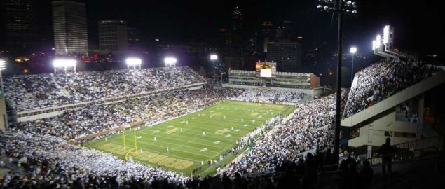 Bobby Dodd Stadium, Georgia Tech vs Miami Hurricanes.