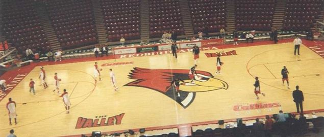 Before a game between the Illinois State Redbirds & the Ball State Cardinals.