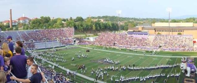 Panorama of Bridgeforth Stadium, at first game after expansion.