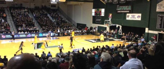 Reitz Arena, home of the Loyola Greyhounds.