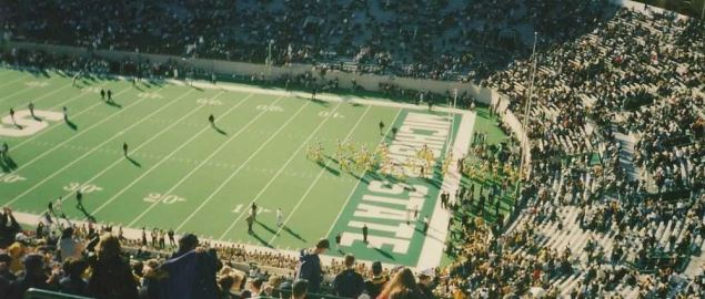 The Michigan Wolverines vs. Michigan State Spartans.