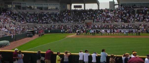 Dudy Noble Field at Mississippi State University before a game.