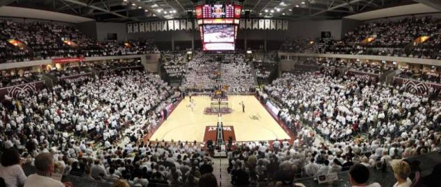 White out game in JQH Arena, Missouri State against Northern Iowa.