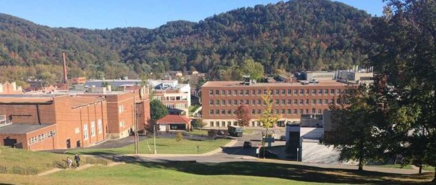 View of Morehead State University from the main parking lot.