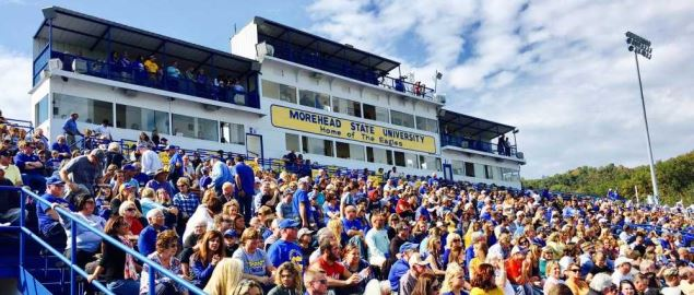 Jayne Stadium during Morehead State University Homecoming.