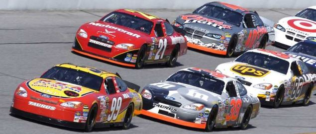Daytona 500 practice run in 2004