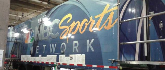 NBC Sports Network trailer during NHL 2016 Stadium Series at Coors Field.
