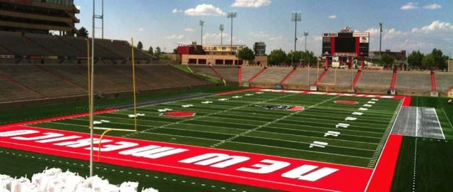 University Stadium of the University of New Mexico, home of the New Mexico Bowl.
