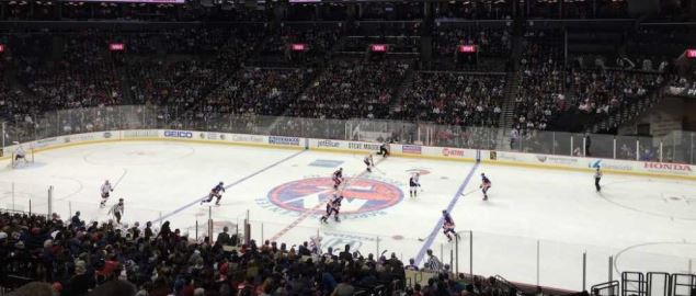 New York Islanders game at the Barclays Center.