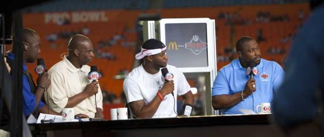 NFL Network announcers at the 2010 Pro Bowl.