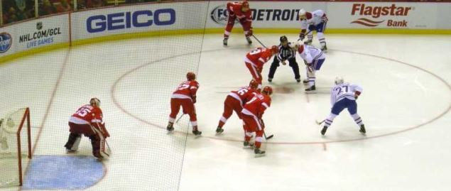 Montreal Canadiens vs. Detroit Red Wings in Detroit, Michigan on November 16, 2014