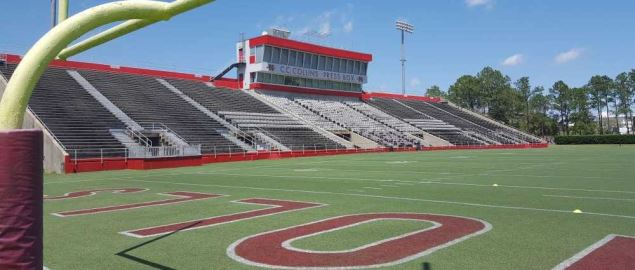 Manning Field at John L. Guidry Stadium, home of the Nicholls State Colonels.