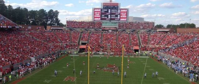 Carter-Finley Stadium during a NC State vs. UNC-Chapel Hill football game.