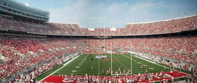 Panoramic view of Ohio Stadium during a game with Northwestern University in 2007.