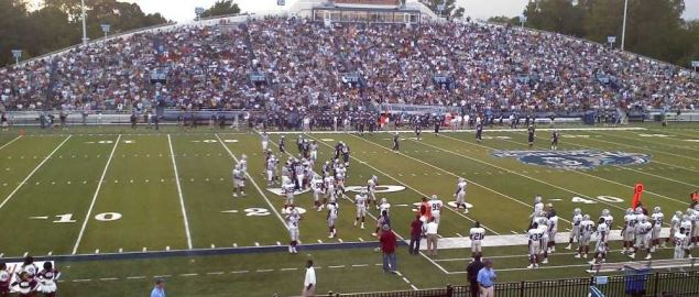 Home game for the Old Dominion Monarchs vs Virginia Union University.