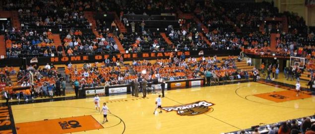 Gill Coliseum at Oregon State.