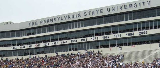 Beaver Stadium on the University Park campus of Penn State University during a home game.
