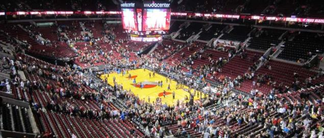 Portland Trail Blazers game at Moda Center, Portland, Oregon.