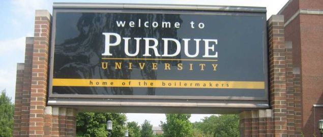 Purdue University's campus entrance.