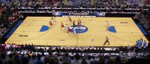 UNC vs. Radford, tip-off in the 2009 NCAA Tournament.