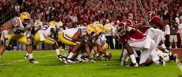 LSU vs Alabama SEC matchup in Bryant Denny Stadium on November 5th 2011