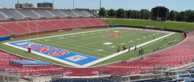 SMU's Ford Stadium, home of the Mustangs football team.