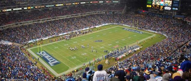 Lucas Oil Stadium, home of the Tennessee Titans.