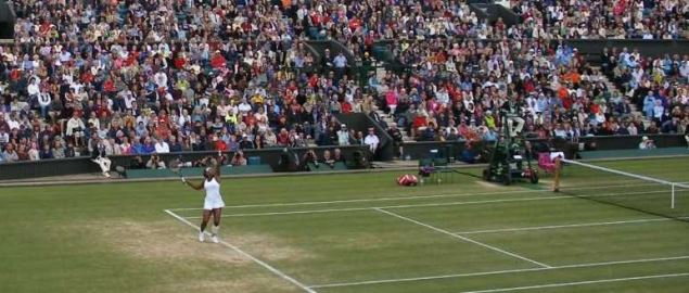 2007 Wimbledon Centre Court Serena Williams vs Justine Henin