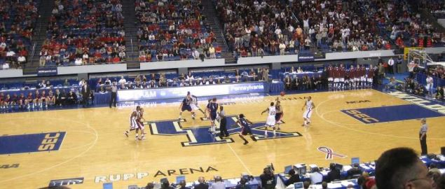 The University of Pennsylvania vs. Texas A&M in the first round of the NCAA Tournament.